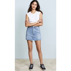AGOLDE 'Quinn' Distressed High-Rise Denim Skirt